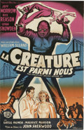 "Movie Posters:Science Fiction, The Creature Walks Among Us (Universal, 1956). French One Sheet(30"" X 47""). This is the third film in the ""Creature from th..."