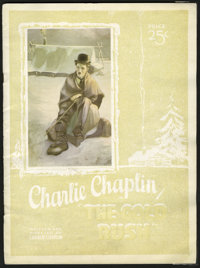 The Gold Rush (United Artists, 1925). Program (Multiple Pages). Charlie Chaplin's loveable tramp character goes in searc...