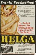 "Movie Posters:Documentary, Helga (American International, 1967). Australian One Sheet (27"" X 40""). Sex education is disguised in a semi-documentary sty..."