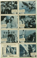"""Movie Posters:War, Hellcats of the Navy (Columbia, 1957). Lobby Card Set of 8 (11"""" X14""""). Ronald Reagan and Nancy Davis star in the only film ...(Total: 8 Items)"""