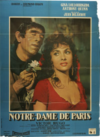 """The Hunchback of Notre Dame (Allied Artists, 1956). French Grande (45"""" X 61""""). Including silents, this is the..."""