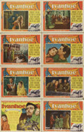 "Movie Posters:Adventure, Ivanhoe (MGM, 1952). Lobby Card Set of 8 (11"" X 14""). ElizabethTaylor, Joan Fontaine, and Robert Taylor star in this epic a...(Total: 8 Items)"