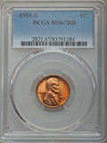 Lincoln Cents: , 1954-S 1C MS67 Red PCGS. PCGS Population: (276/0). NGC Census: (785/0). Mintage 96,190,000. ...