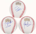 Autographs:Baseballs, 2016 Chicago Cubs World Series Masterminds Single Signed BaseballTrio - Epstein, Hoyer, & Ricketts....