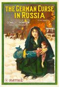 "Movie Posters:War, The German Curse in Russia (Pathe, 1918). One Sheet (27.75"" X41"").. ..."