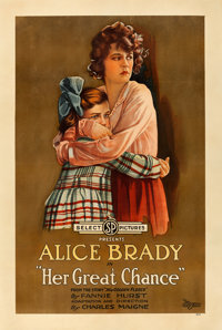 """Her Great Chance (Select, 1918). One Sheet (28.25"""" X 42.25"""")"""