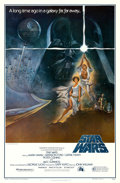 "Movie Posters:Science Fiction, Star Wars (20th Century Fox, 1977). First Printing One Sheet (27"" X 41"") Style A, Tom Jung Artwork.. ..."