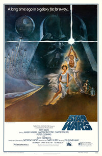 "Star Wars (20th Century Fox, 1977). First Printing One Sheet (27"" X 41"") Style A, Tom Jung Artwork"