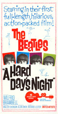 "Movie Posters:Rock and Roll, A Hard Day's Night (United Artists, 1964). Three Sheet (41"" X79"").. ..."