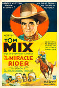 "Movie Posters:Serial, The Miracle Rider (Mascot, 1935). One Sheet (27"" X 41"") Chapter 1--""The Vanishing Indian."". ..."