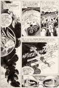 Original Comic Art:Panel Pages, Joe Kubert Star Spangled War Stories #138 Story Page 7 EnemyAce Original Art (DC, 1968)....