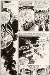 Joe Kubert Star Spangled War Stories #138 Story Page 7 Enemy Ace Original Art (DC, 1968)