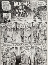 Robert Crumb Weirdo #22 Complete 4-Page Story Original Art (Last Gasp, 1988).... (Total: 4 Original Art)