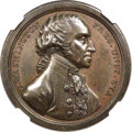 1797-Dated Washington Sansom Medal, Baker-71A, Julian PR-1b, Musante GW-58, MS61 Brown NGC. Bronze, Original. The Sansom...