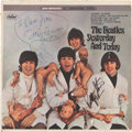 "Music Memorabilia:Autographs and Signed Items, Beatles - John Lennon's Personal Stereo ""Butcher Cover"" Prototypewith His Original Artwork on the Blank Back and Signatures o..."