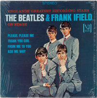"""The Beatles & Frank Ifield On Stage Rare """"Portrait Cover"""" Stereo LP with Original Shrink Wrap (Vee Jay"""