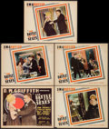 "Movie Posters:Comedy, The Battle of the Sexes (United Artists, 1928). Title Lobby Cardand Lobby Cards (4) (11"" X 14""). Comedy.. ... (Total: 5 Items)"