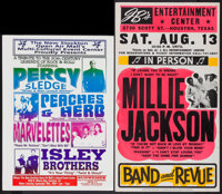 """Percy Sledge & Others Lot (New Stockton Open Air Mall, 1999). Concert Window Cards (3) (18"""" X 25"""", 17""""..."""