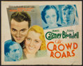 "Movie Posters:Sports, The Crowd Roars (Warner Brothers - Vitagraph, 1932). Title LobbyCard (11"" X 14""). Sports.. ..."