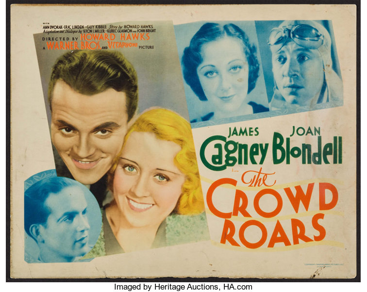 """Movie Posters:Sports, The Crowd Roars (Warner Brothers - Vitagraph, 1932). Title LobbyCard (11"""" X 14""""). Sports.. ..."""