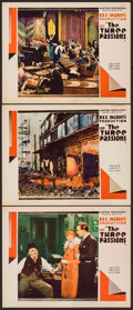 "Movie Posters:Exploitation, The Three Passions (United Artists, 1928). Lobby Cards (3) (11"" X14""). Exploitation.. ... (Total: 3 Items)"