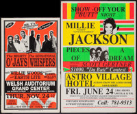 The Mighty O' Jays/ The Sensational Whispers & Other Lot (Mr. V's Promotions, 1980s/1990s). Concert Window Cards...