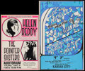 """Movie Posters:Rock and Roll, Helen Reddy/The Pointer Sisters & Other Lot (KGW Radio &Northwest Releasing, 1970s). Window Cards (2) (15"""" X 22.5"""" &18"""" X ... (Total: 2 Items)"""