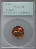 1936 1C Type Two -- Brilliant Finish PR63 Red PCGS. NGC Census: (31/174). PCGS Population: (152/714). Mintage 5,569....(...