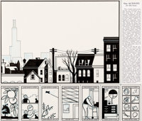 Chris Ware Acme Novelty Library #5 Back Cover Jimmy Corrigan Original Art (Fantagraphics, 1993)