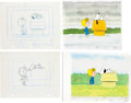 Animation Art:Production Cel, Charlie Brown and Snoopy Show Snoopy and Sally ProductionCel Setup and Animation Drawing Group of 7 (Bill Melendez, 1...