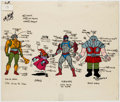 Animation Art:Color Model, He-Man Color Model Cel (Filmation, 1983). ...