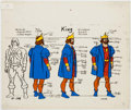 Animation Art:Color Model, He-Man King Randor Color Model Cel (Filmation, 1983). ...