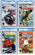 Modern Age (1980-Present):Superhero, Web of Spider-Man CGC-Graded Group of 9 (Marvel, 1985-87)....(Total: 9 Comic Books)