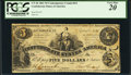 Confederate Notes:1861 Issues, CT36/274 $5 1861 Counterfeit.. ...