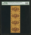 Fractional Currency:First Issue, Fr. 1230 5¢ First Issue Uncut Strip of Four PMG Choice Uncirculated 64 EPQ.. ...