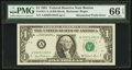Error Notes:Mismatched Prefix Letters, Fr. 1911-A $1 1981 Federal Reserve Note. PMG Gem Uncirculated 66EPQ.. ...