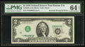 Error Notes:Inverted Third Printings, Fr. 1935-J $2 1976 Federal Reserve Note. PMG Choice Uncirculated 64EPQ.. ...
