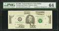 Error Notes:Missing Magnetic Ink, Fr. 1985-K $5 1995 Federal Reserve Note. PMG Choice Uncirculated64.. ...