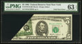 Fr. 1978-B $5 1985 Federal Reserve Note. PMG Choice Uncirculated 63 EPQ