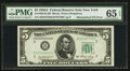 Fr. 1962-B $5 1950A Federal Reserve Note. PMG Gem Uncirculated 65 EPQ
