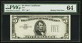 Error Notes:Obstruction Errors, Fr. ? $5 Silver Certificate PMG Choice Uncirculated 64.. ...
