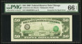 Error Notes:Third Printing on Reverse, Fr. 2124-G $50 1990 Federal Reserve Note. PMG Gem Uncirculated 66 EPQ.. ...