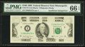 Error Notes:Missing Magnetic Ink, Fr. 2173-I $100 1990 Federal Reserve Note. PMG Gem Uncirculated 66EPQ.. ...