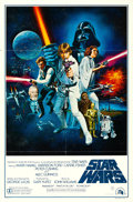 "Movie Posters:Science Fiction, Star Wars (20th Century Fox, 1977). One Sheet (27"" X 41"") Style C, Tom Chantrell Artwork.. ..."