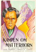 "Movie Posters:Drama, Fight for the Matterhorn (Victoria Film, 1928). Swedish One Sheet(28"" X 39"").. ..."