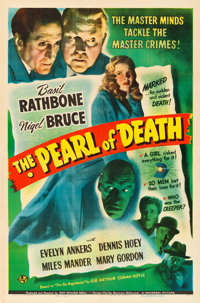 "The Pearl of Death (Universal, 1944). One Sheet (27"" X 41"")"