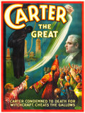 "Movie Posters:Miscellaneous, Carter the Great (1926). Eight Sheet (80"" X 106"") ""Carter Cheatsthe Gallows."". ..."