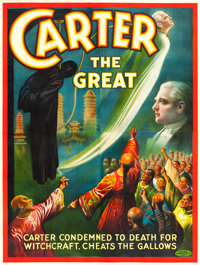 "Carter the Great (1926). Eight Sheet (80"" X 106"") ""Carter Cheats the Gallows."""