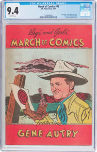 March of Comics #78 Gene Autry (K. K. Publications, Inc., 1951) CGC NM 9.4 Off-white pages