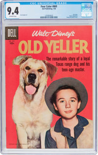 Four Color #869 Old Yeller (Dell, 1958) CGC NM 9.4 Off-white pages